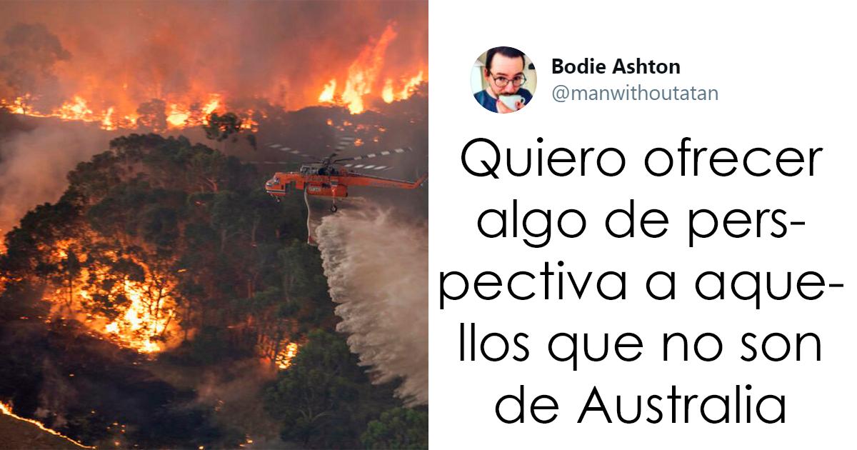 Este hombre publicó un hilo terrible revelando la devastación de los incendios de Australia