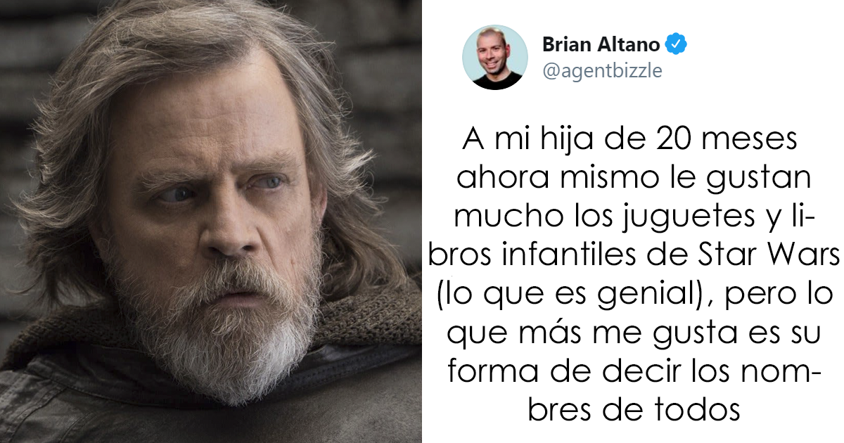 Este padre compartió cómo llama su hija de año y medio a los personajes de Star Wars, y a Mark Hamill le encanta