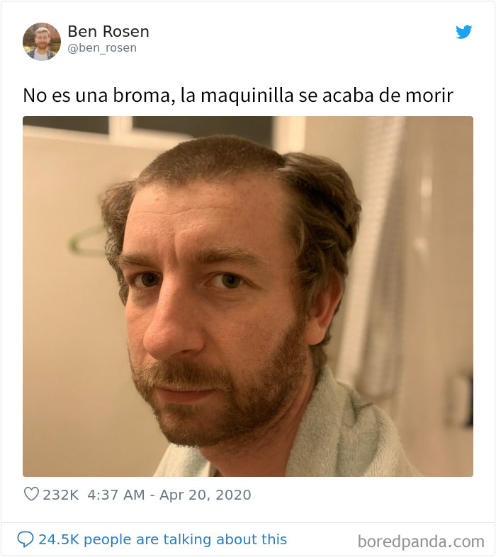 Clásico Peinado En Cuarentena