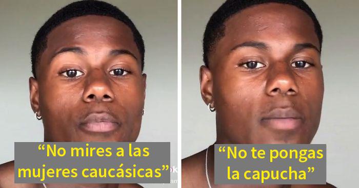Este adolescente afroamericano cuenta las reglas no escritas que le impone su madre para que esté a salvo