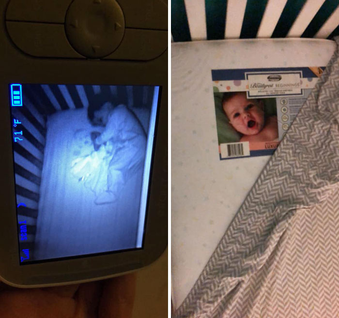 Bebé Fantasma En La Cuna De Su Hijo