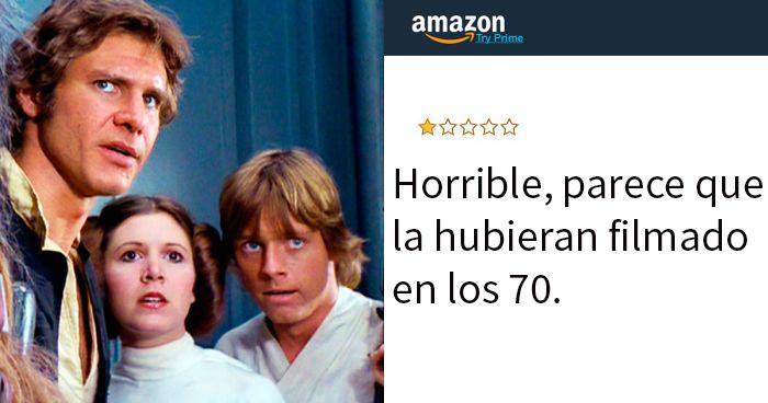 Hay una cuenta de Twitter que recopila las más terribles reseñas de películas en Amazon, y aquí tienes 20 de las más divertidas