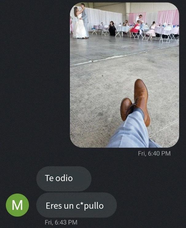 Este hombre le dejó a su amigo unos zapatos para una boda, y los usó para gastarle una broma