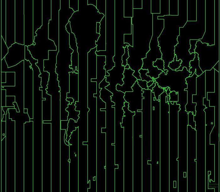 Mapa Del Mundo Pero Solo Muestra Las Zonas Horarias