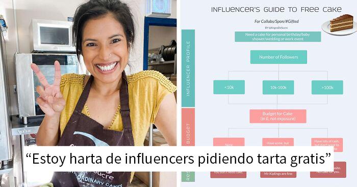 """""""Estoy harta de influencers"""": Esta pastelera profesional encuentra un modo genial de librarse de los influencers"""