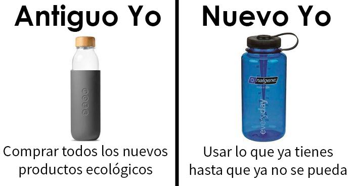 """20 Memes de """"Antiguo yo VS Nuevo yo"""" que te ayudarán a reducir desperdicios"""