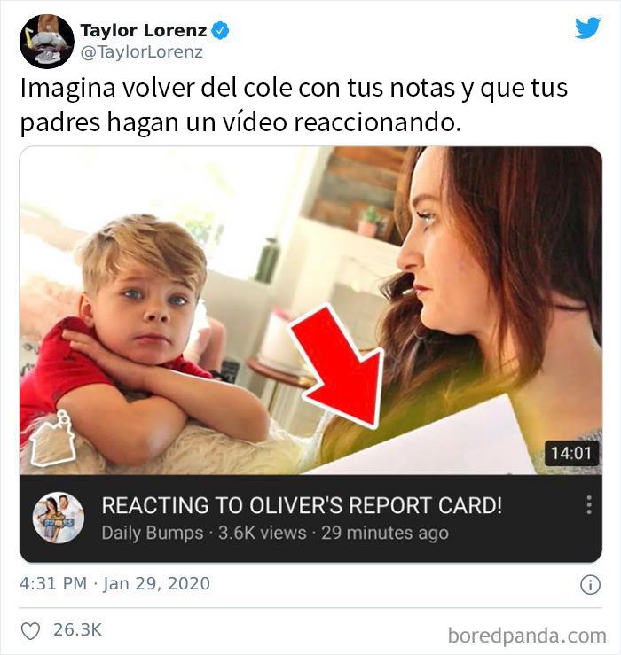 """Padres """"Reaccionando"""" Ante Las Notas De Su Hijo De 6 Años Para Conseguir Visitas"""