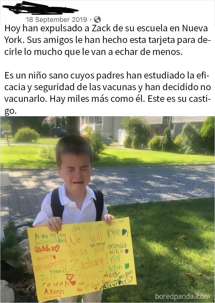 No Solo Consigue Que Expulsen A Su Hijo Del Colegio Por No Vacunarlo, Sino Que Encima Lo Airea En Las Redes Para Que La Gente Se Ponga De Su Lado