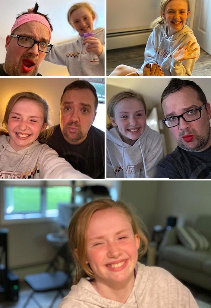 Ultimamente No He Pasado Mucho Tiempo Con Mi Hija, Así Que Le He Dejado Hacerme Un Cambio De Look, Y Su Sonrisa Lo Dice Todo