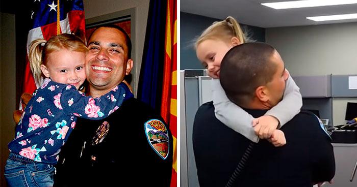 Un Oficial Encuentra A Una Niña Maltratada Durante Un Chequeo De Servicios Sociales Y Decide Entregarle Su Corazón y Su Hogar