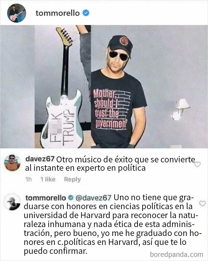 Tom Morello No Se Corta