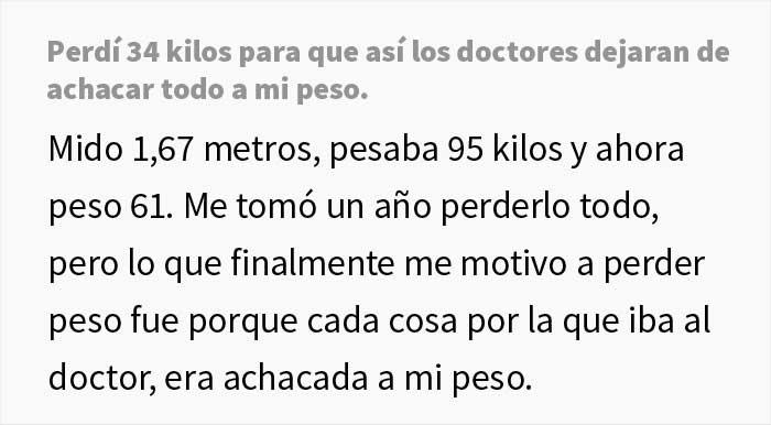 Esta mujer perdió 34 kilos para que los médicos dejaran de achacar sus síntomas al peso y le den por fin un diagnóstico