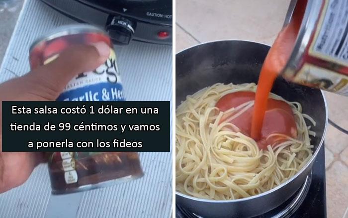 Este adolescente sin hogar se vuelve viral con 19 millones de visitas tras mostrar cómo prepara su comida