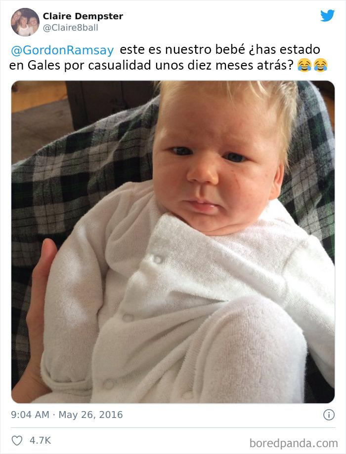 Nuestro bebé es exactamente igual a Gordon Ramsay