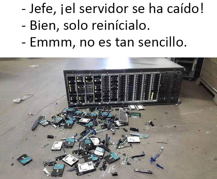 ¡El servidor se ha caído!