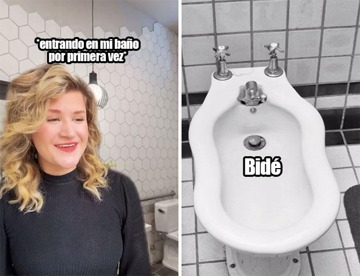 Bidé en el baño