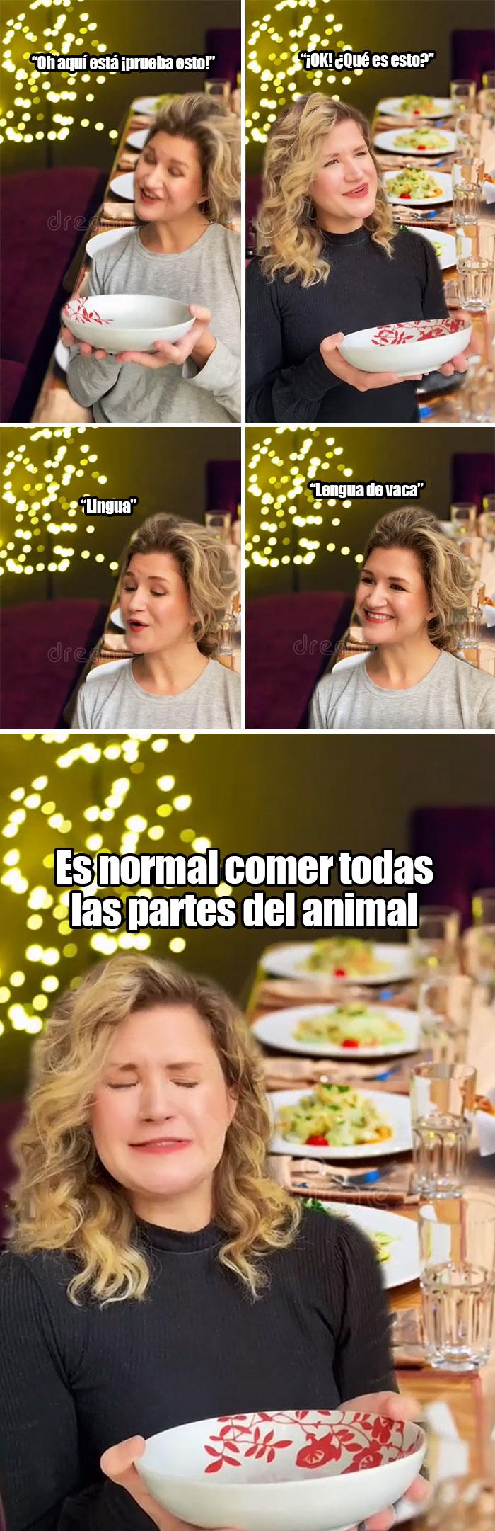 Es normal comer todas las partes del animal