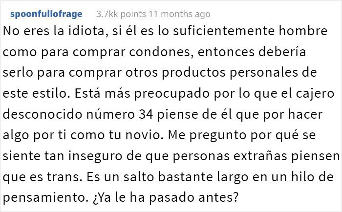 Este novio se negó a comprar compresas a su novia y se enfada cuando ella le hace notar su frágil masculinidad