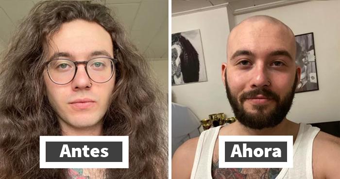 30 Fotos de personas amables antes y después de cortar su melena para donarla a pacientes de cáncer