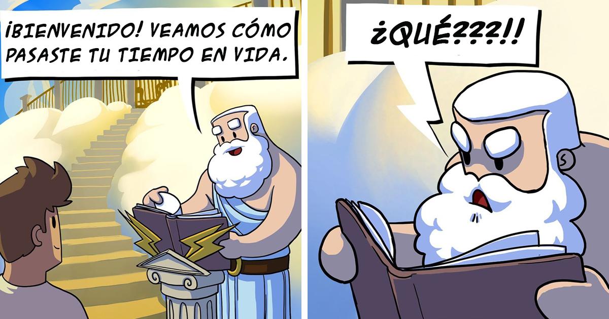 12 Divertidos cómics sobre cómo se enfrentan los dioses a los problemas diarios
