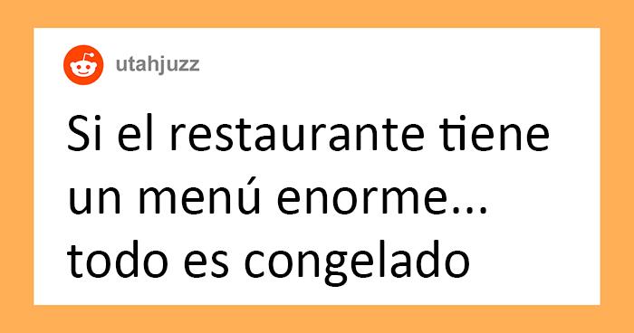 30 Chefs revelan las «señales de alarma» de los restaurantes que indican que deberías comer en otro sitio