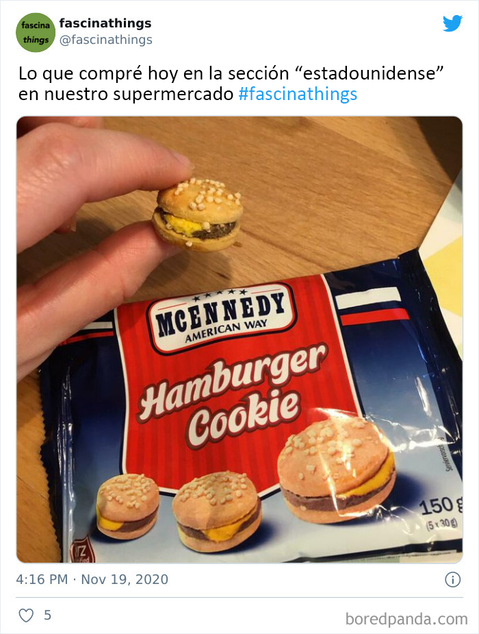 """What The """"American Food"""" Section Looks Like In Different Countries"""