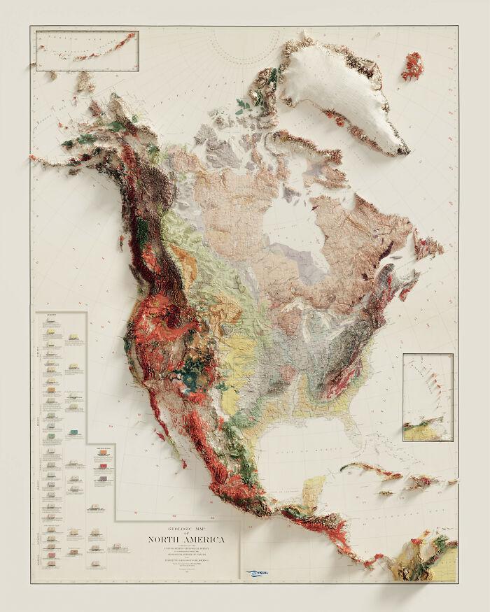 Mapa Geológico De Norteamérica