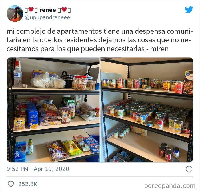 Ayudar a los vecinos necesitados