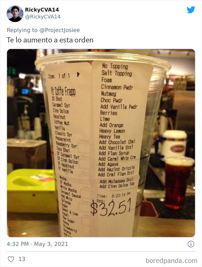 Frustrated Starbucks Baristas Are Shaming Jerk Customers Who Order Drinks That Are 'Very Extra' (30 Pics)