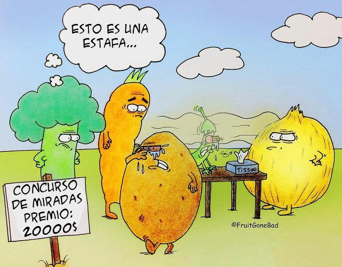 10 Divertidos cómics algo inapropiados, sobre «fruta echada a perder»
