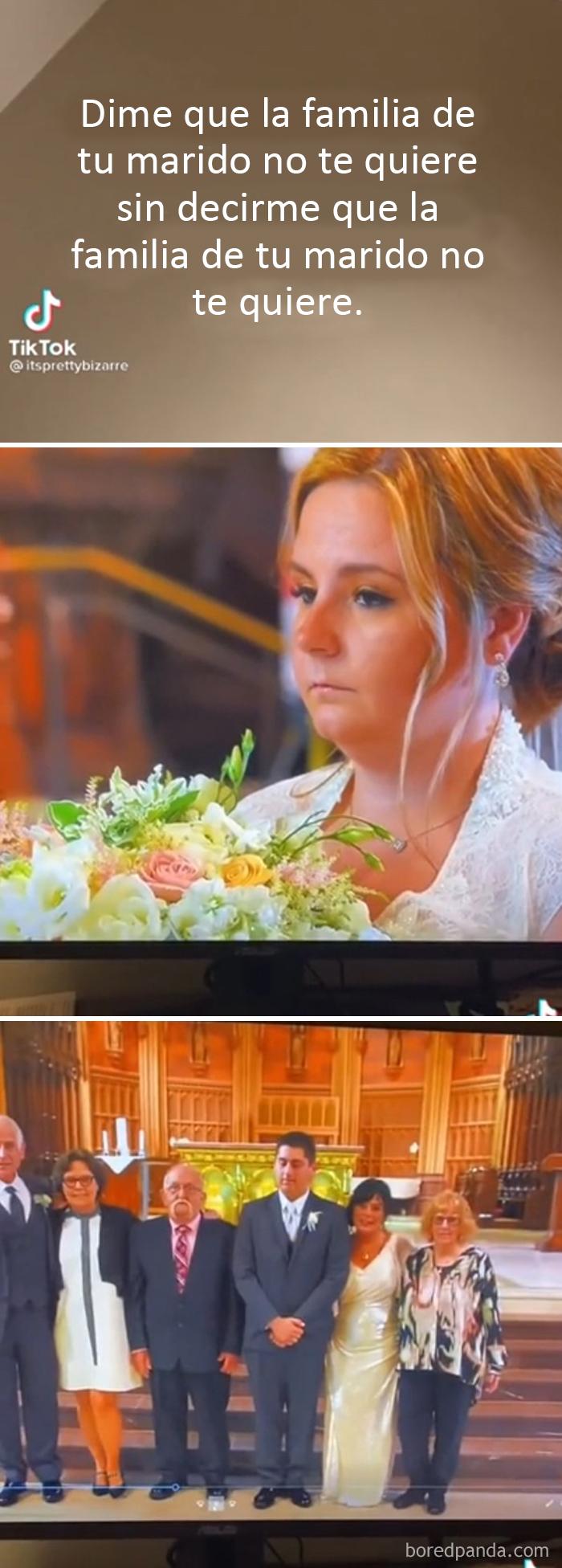 Me siento tan mal por esta novia (La familia del novio posa para las fotos sin la novia)