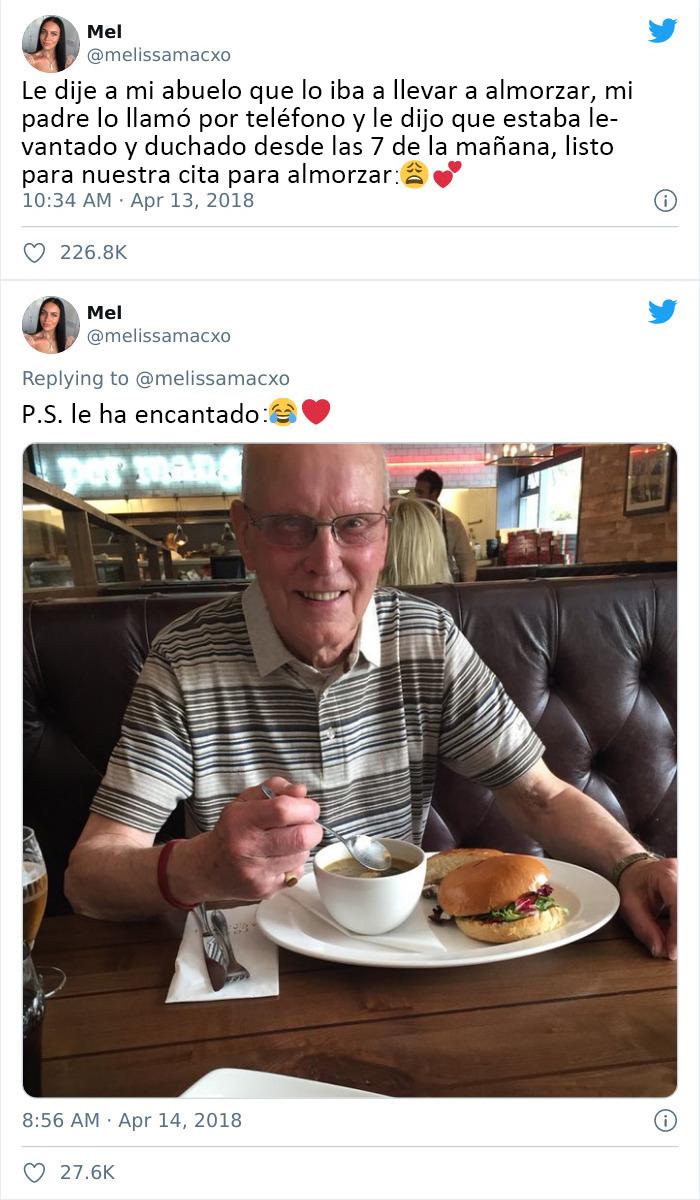 Almuerzo con el abuelo