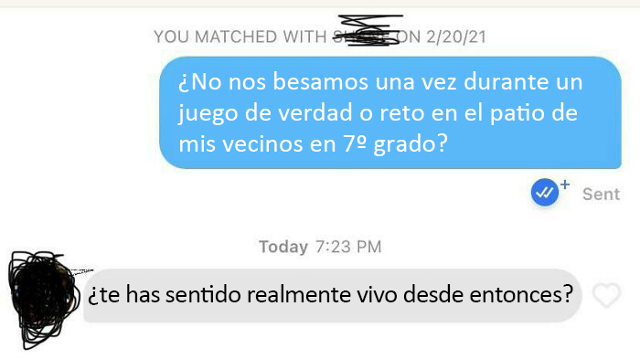 Hice match con la primera chica que besé, no estaba seguro de si lo recordaría