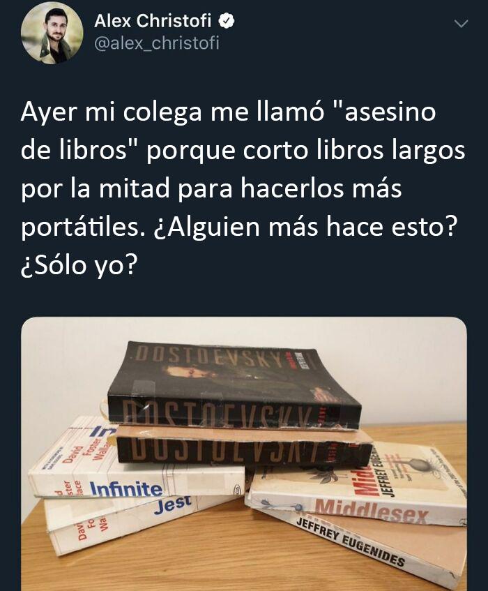 Gracias, odio el asesinato de libros