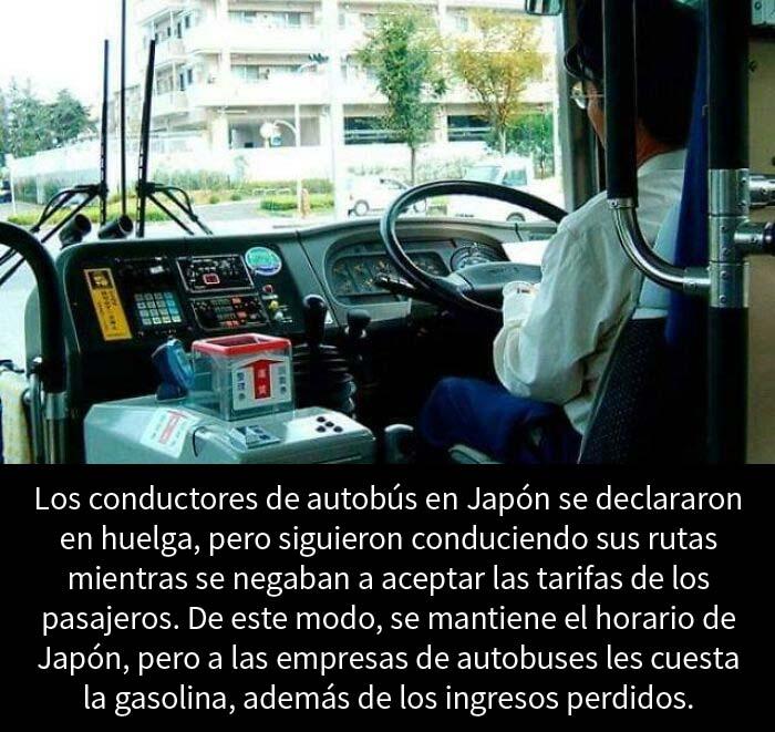 Los conductores de autobús en Japón, en huelga de tal manera para que la gente no sufra