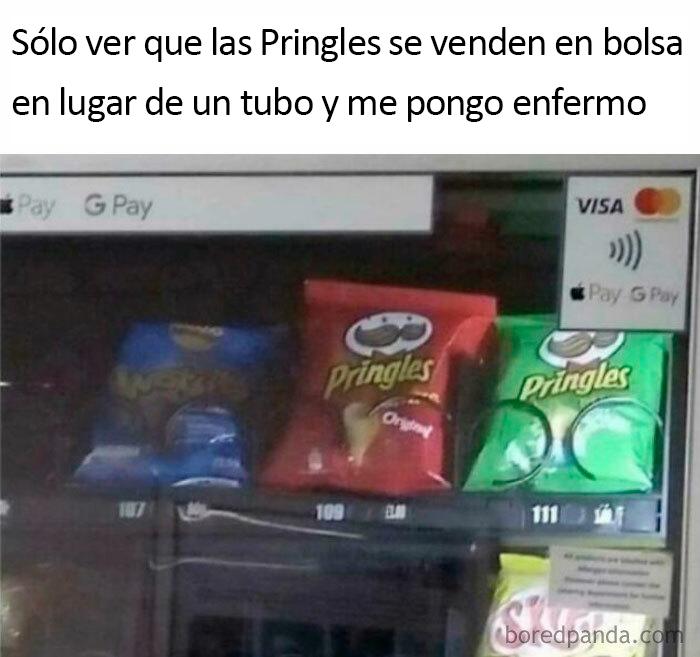 Gracias, odio las bolsas de Pringles