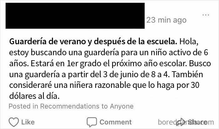 """¡Una niñera """"razonable"""" dispuesta a trabajar por menos de $4 / Hr! ¡Vete a la mi*rda!"""