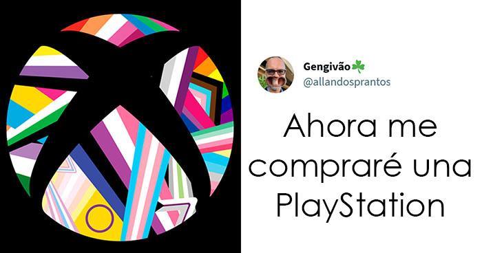 Internet demostró a un tipo que desaprueba el nuevo logo arco iris de Xbox que no encontrará una empresa que no apoye al colectivo LGBTQ+