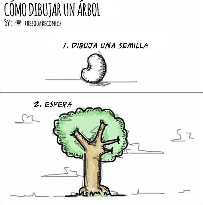 Cómo dibujar un árbol