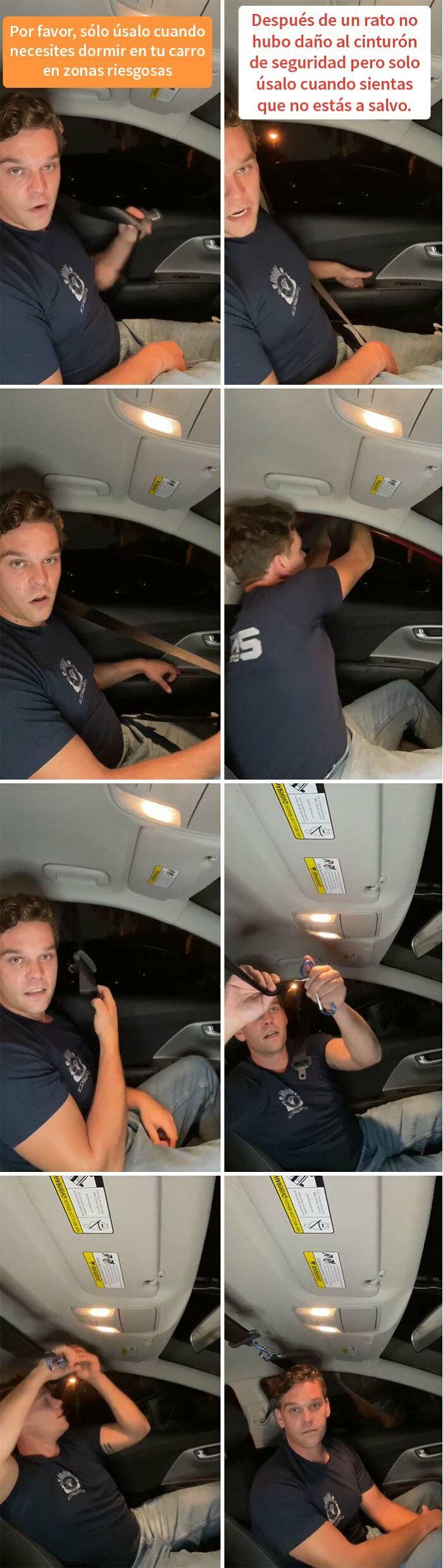 Si necesitas dormir en tu coche en zonas peligrosas