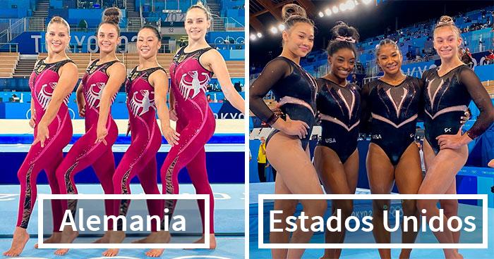 Estas gimnastas alemanas se opusieron a la sexualización al usar trajes de cuerpo entero en lugar de sus antiguos atuendos reveladores