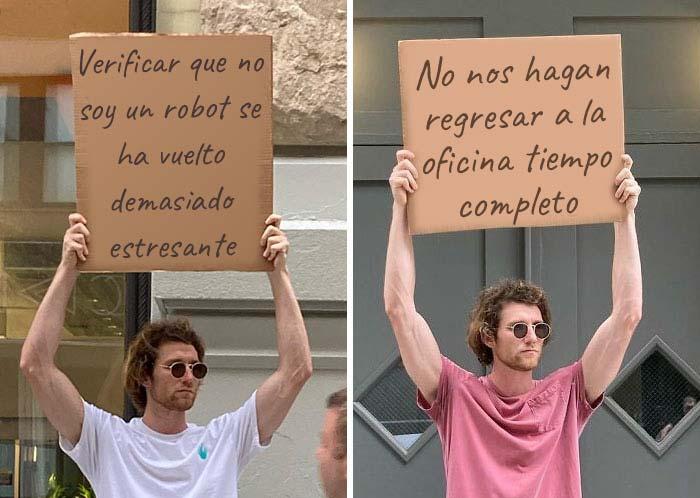 Este hombre no deja de protestar contra las cosas molestas cotidianas con divertidos carteles (30 nuevas fotos)