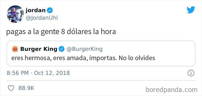 Ese día, el equipo de relaciones públicas de Burger King aprendió una valiosa lección sobre Twitter