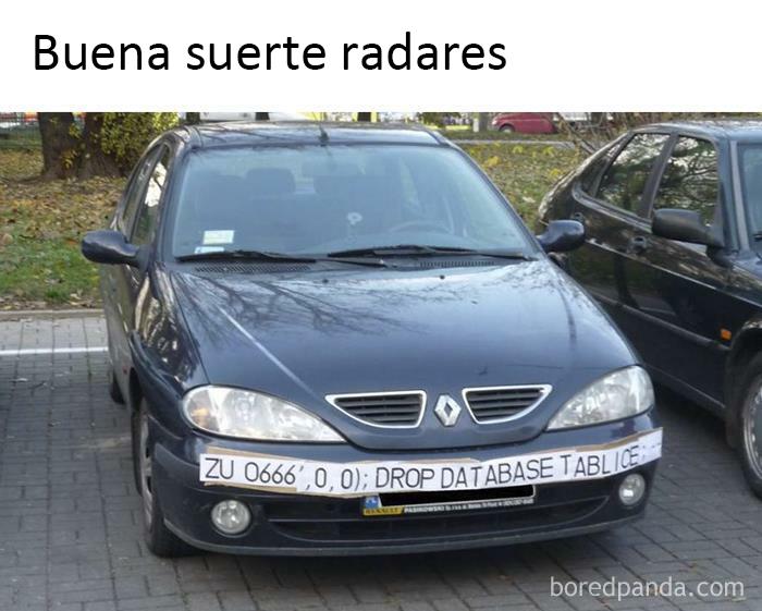 ¿Radares + Sql?