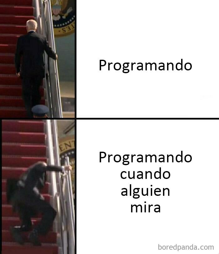 Cuando alguien me ve programar