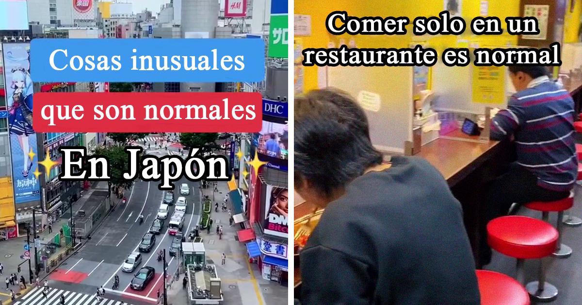 15 Cosas inusuales que son normales en Japón