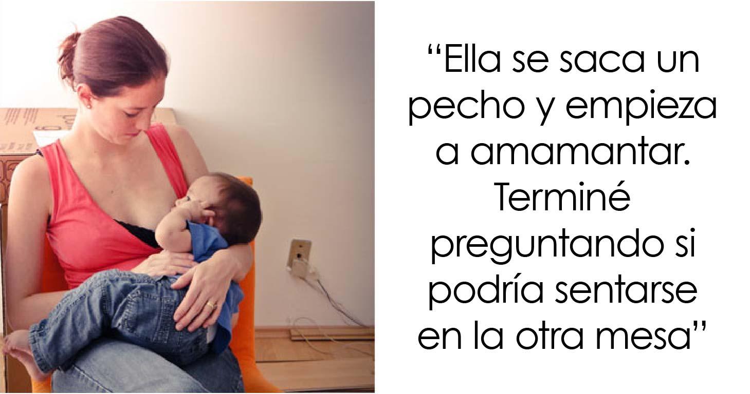 Este hombre pregunta si se equivocó al pedirle a una madre que amamantaba a su bebé que se sentara en otra mesa