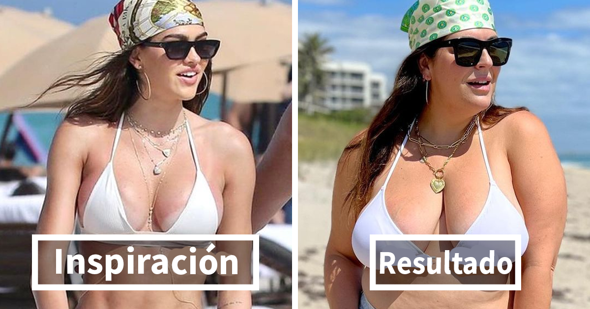 Esta mujer se viste como las celebridades para demostrar que no hay que ser delgada para tener buen aspecto (Nuevas fotos)
