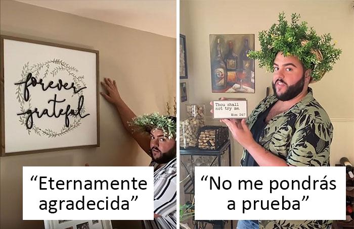 Este tipo documenta la casa de su hermana, y muestra toda su decoración tipo 'Vive, Ríe, Ama'
