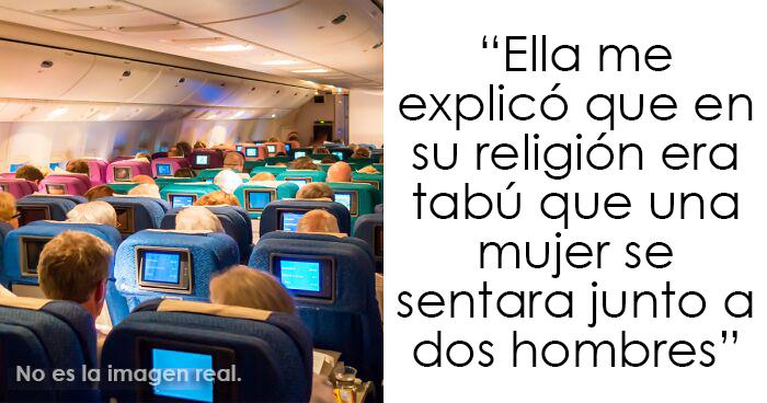 Este chico se negó a cambiar de asiento en el avión cuando una mujer le pidió que lo hiciera por «razones religiosas» y desata un drama a bordo